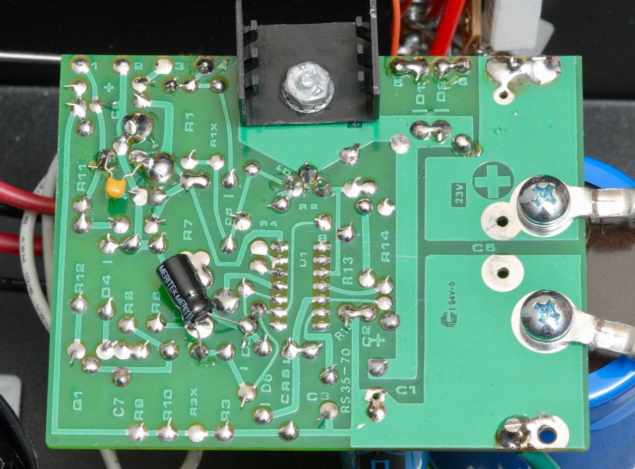 A Look At The Astron Rs 35a Ag6qr 12v Linear Regulator For Transceiver Radio Solder Side Of Board